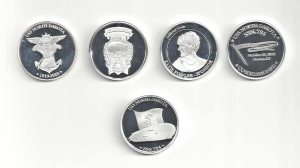 AAA All four silver coins